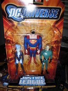 DC Universe Justice League Unlimited_LIVEWIRE_WEATHER WIZARD_SUPERMAN 3-Pack_MIP