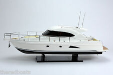 """RIVIERA Sport Yacht 36"""" - Handcrafted Wooden Boat Model NEW"""