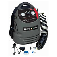 Porter-Cable 0.8 HP 1.5 Gal. Oil-Free Compressor Kit CMB15 New