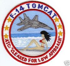 F-14 TOMCAT HUMOROUS PATCH, RED BIKINI ON THE BEACH                            Y