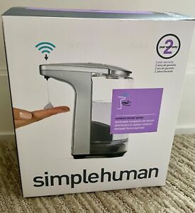 Simplehuman 8 oz. Touch-Free Sensor Liquid Soap Pump Dispenser -Brushed Nickel