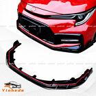 For 2020-21 Toyota Corolla SE XSE Carbon Fiber Front Bumper Lip Spoiler Body kit