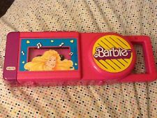 *WORKING* Nasta Vintage Collectible Barbie Tape Player Record 1989 Handle Pink