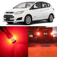 Alla Lighting Brake Turn Signal Light 7443 7440 Pure Red LED Bulb for Ford C-MAX