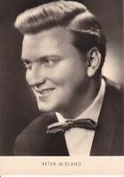 uralte AK Deutscher Schlagersänger Peter Wieland 1963 //20