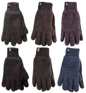 Heat Holders - Mens 2.3 tog Fleece Insulated Thermal Cold Weather Winter Gloves
