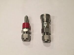 """Swagelok SS-QC4-B-400 SS-QC4-D-400 1/4"""" Compression Quick Connect Body and Stem"""