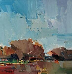 JOSE TRUJILLO Oil Painting IMPRESSIONISM Contemporary 12x12 Landscape MODERN ART