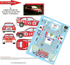 DECALS 1/18 REF 0032 ESCORT COSWORTH SNIJERS SPA RALLY 1997 RALLYE BASTOS YPRES
