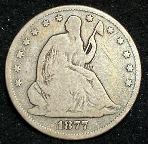 1877-CC Seated Liberty Half Dollar