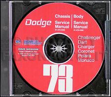1973 Dodge CD Shop Manual Dart Swinger Coronet Charger Challenger Polara Monaco