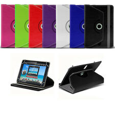 """360 Rotary Crystal PU Leather Case Stand Cover For 9.6"""" 9.7"""" 10.1"""" Tablet Tab"""