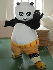 Kung Fu Panda Mascot Costume Fancy Adult Dress Halloween free shipping
