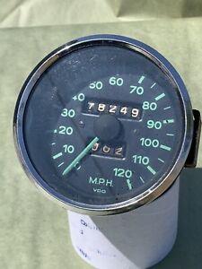 Original Survivor Working VDO 120 mph Speedometer Porsche 356 Pre-A Dated 12.54