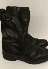 JCrew Vintage Leather Roadster Boots US Size 8.5 Biker 19997 Black