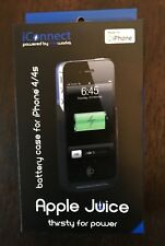 NEW LifeWorks LW-IC2I0B iConnect Apple Juice Battery Case for iPhone 4/4s Blue