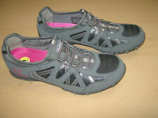 NEW SKECHERS Slip On Bikers Carry On Shoes 22406EWR Bungee SIZE 9 Womens Gray