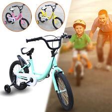 16 Zoll Kinderfahrrad Mädchen Kinderfahrräder Spielrad Fahrrad mit Hilfsrad Neu
