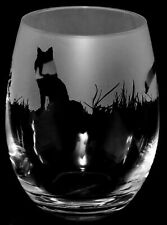 More details for fox frieze boxed 36cl crystal stemless wine / water glass