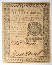 1775 30 Shillings Colonial Note Lot 445