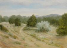 Two Horse Trail, Santa Fe, NM. 9x12 original oil painting by Celene Farris Maine