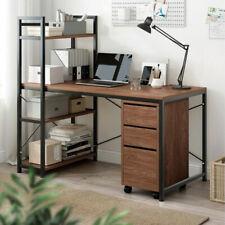 More details for corner computer desk h-shaped pc laptop table home office workstation +4 shelves