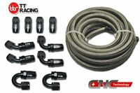 AN Braided Stainless Steel Fuel Hose 20ft &10 Fittings Kit / Fittings Only E85