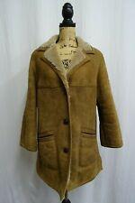 Women's Sheepskin Shearling Coat Size 16 Dry Cleaned