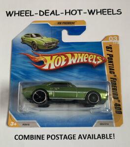 HOT WHEELS 2010 HW PREMIERE '67 PONTIAC FIREBIRD 400 RARE SHORT CARD MOC!