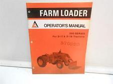 ALLIS CHALMERS FARM LOADER OPERATOR'S MANUAL 500 SERIES FOR D-17 & D-19 TRACTORS