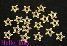 300pcs Antiqued Gold Plt Beaded Star Spacer Beads A326