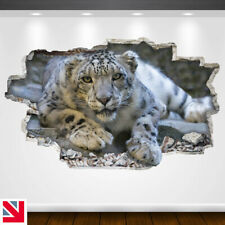 SNOW LEOPARD BIG CAT MAMMAL ANIMAL Wall Sticker Decal Vinyl Art A5
