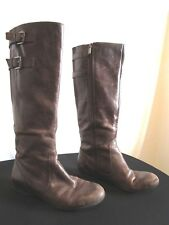 7b47922d0a3 Enzo Angiolini Brown Leather Boots for Women | eBay