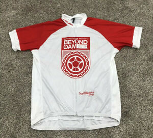 Voler Cycling Jersey 2019 Red And White 2XL Zip Back Pockets Beyond The Dam A7