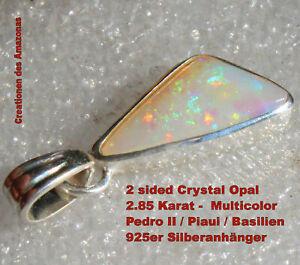 Hot Multicolor Crystal Opal 2.85 Karat 925er Silberanhänger Unikat