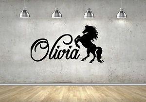 Personalised Name with Horse Wall Sticker