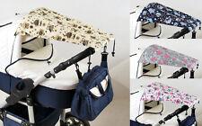 BABYLUX Sonnenschutz SONNENSEGEL für Kinderwagen Buggy UV Schutz EULEN MUSTER