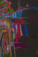 Abstrakte originale künstlerische mit Pastell-Technik direkt vom Künstler