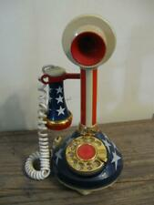 VTG American Telecommunications Corp American Flag Candlestick Telephone