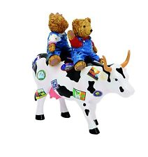 Cow Parade Teddy Bears On The Moove 47763 Medium Resin Cow Figurine Cowparade UK