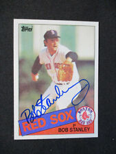 Bob Stanley Boston Red Sox Autographed Signed 1985 Topps #555 NMMT NICE 464
