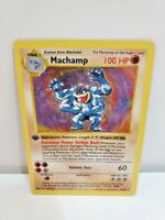 1ST EDITION SHADOWLESS Machamp 8/102 Holo Rare Base Set Pokemon Card