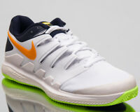 Nike Air Zoom Vapor X Clay Men's White Orange Athletic Tennis Shoes Sneakers