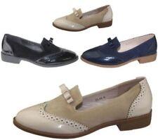 Chaussures plates et ballerines beiges en cuir pour femme