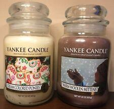 Yankee Candle CREAM COLORED PONIES WARM WOOLEN MITTENS 22 oz Jar My Favorite