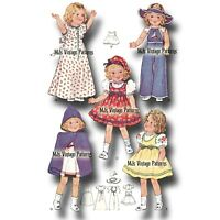"""Vintage Shirley Temple HEIDI Doll Clothes Pattern ~ 13"""", 14"""" Patsy Composition"""