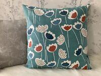 "18 x 18"" Scandi Cushion Cover Prestigious Textiles Saffron Clara blues"