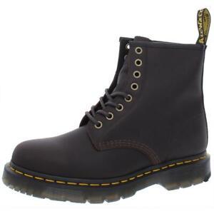 Dr. Martens Womens Snowplow Brown Combat Boots Shoes 8 Medium (B,M) BHFO 8428