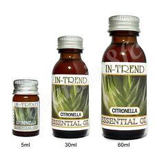 Huile essentielle de Citronnelle pure et naturelle 5ml 30ml 60ml