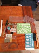 Large Lot Of Vintage Drafting Supplies Templates Pencils Ink And Much More